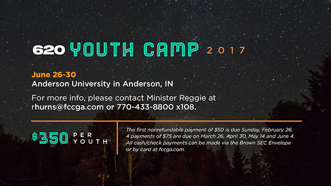 2017 Youth Camp - June 26-30, 2017