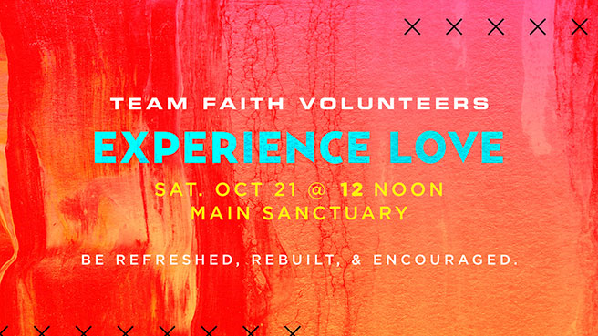 Experience Love - Sat. Oct 21 @ 12 Noon