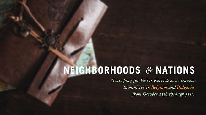 Neighborhoods & Nations - October 25th through 31st