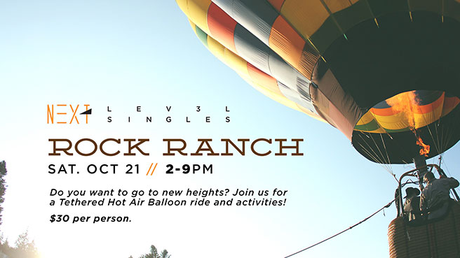 Next Lev3l Singles - Rock Ranch - Saturday, October 21 // 2-9PM