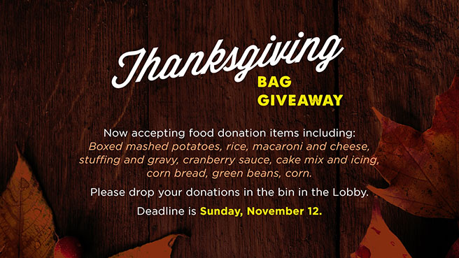 Thanksgiving Bag Giveaway - Deadline - Sunday, November 12